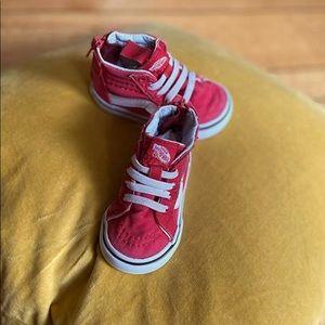 Red HighTop Vans Toddler Size